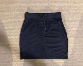 Forever 21 faux suede bodycon skirt