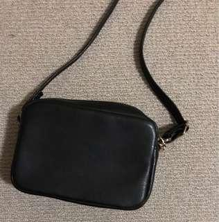 Small faux leather crossbody bag