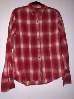 Red Flannel Shirt - Size L