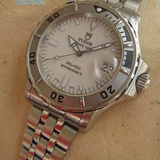 減價 ! 帝舵(刁陀)Tudor Hydronaut  IVORY WHITE DIAL Steel  200M Automatic Watch.约39-40mm