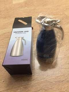 Stainless steel vacuum jug 2L blue