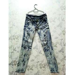 Ripped Acid Wash Jeans