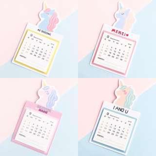 Mini 2019 Unicorn Calendar