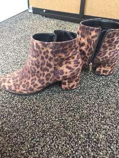 Sam Edelman leopard booties