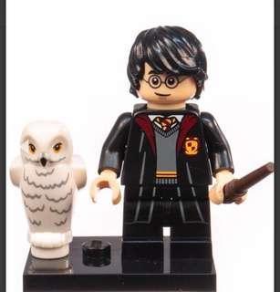 Lego Harry Potter with white owl Minifigures / Minifigurine