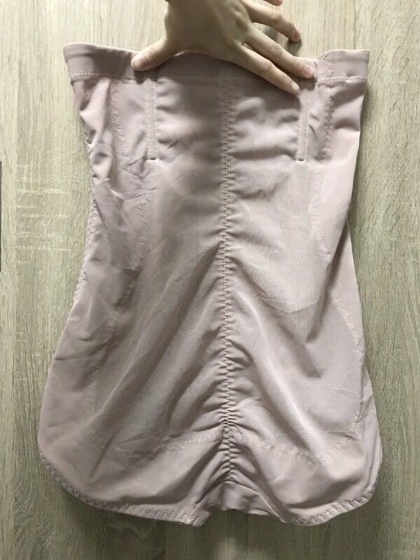超高腰透氣網紗三排扣拉鍊美體雕塑褲2件組