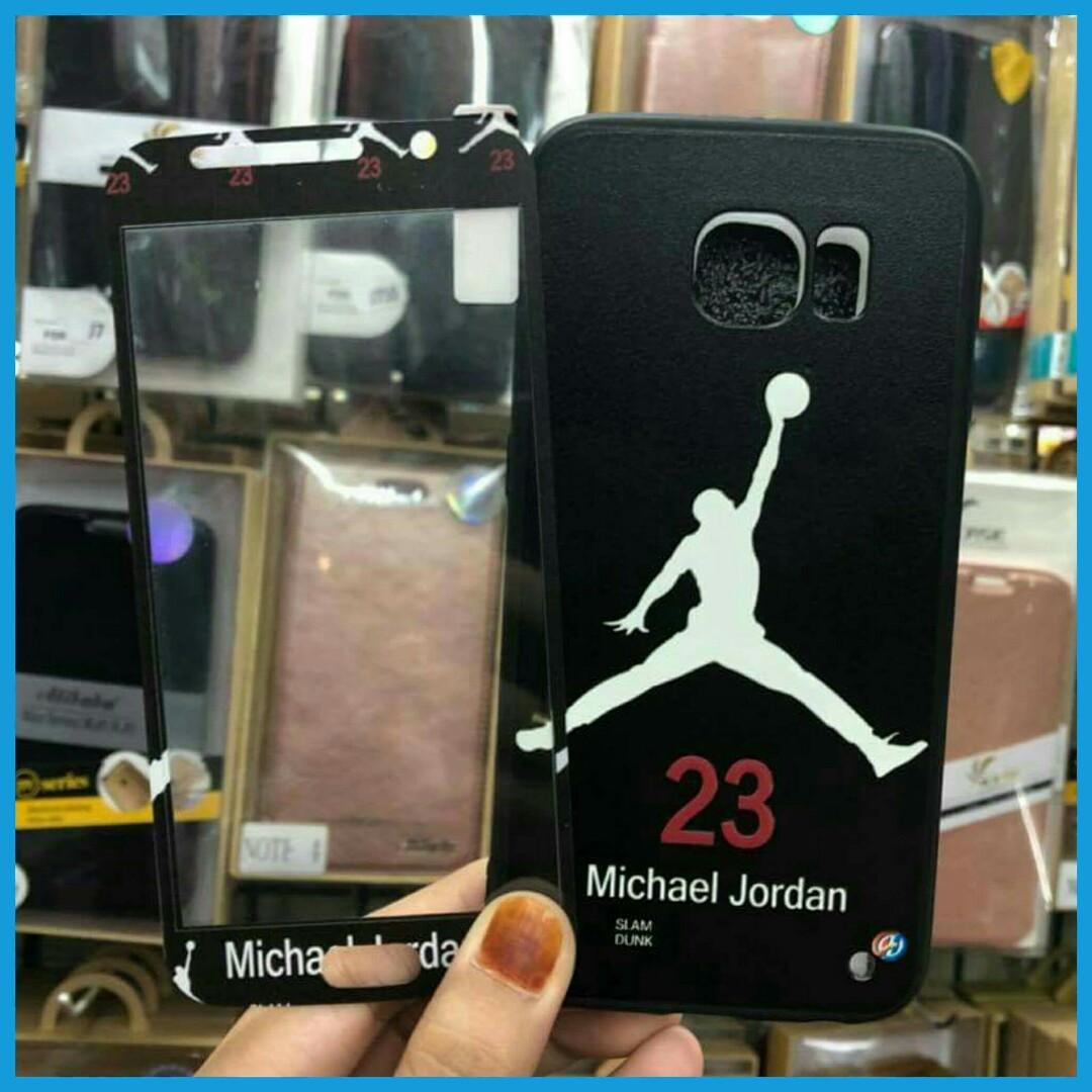 new concept 39bc1 9010d 🌈 New! 2-in-1 Jordan Case + Tempered Glass for Samsung S6, S7, On7 ✔  Imported, Premium Quality