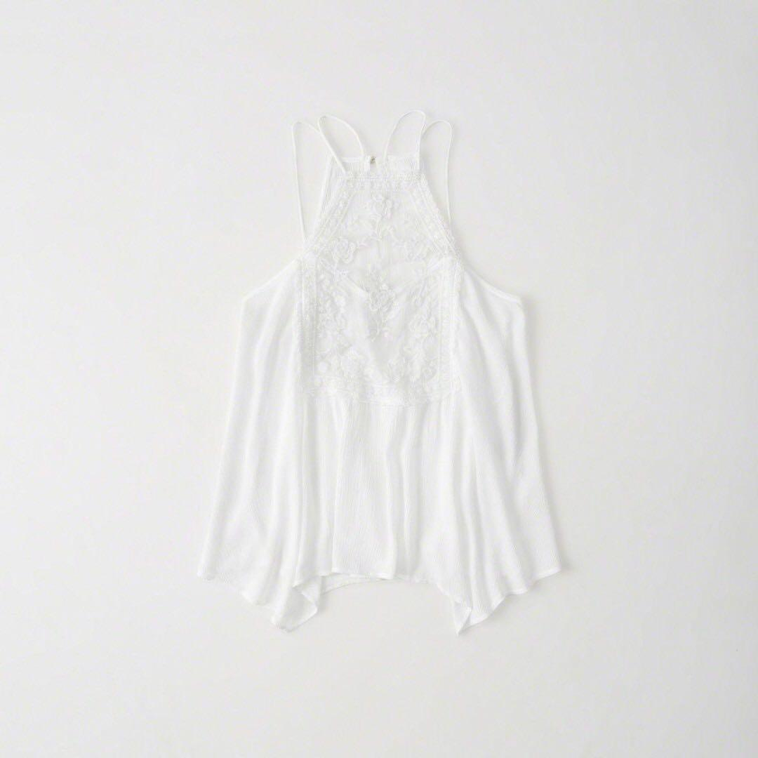 Abercrombie and Fitch Lace Square Neck Cami BRAND NEW WITH TAG XS