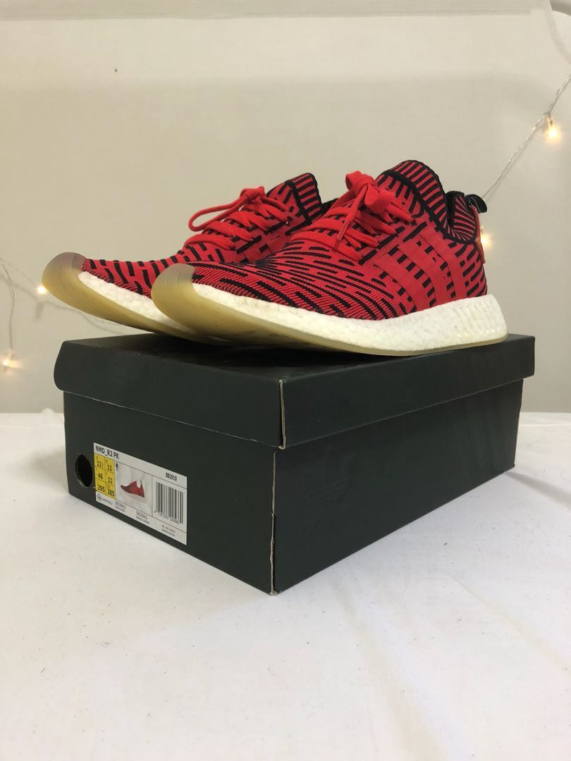 3911425a3727a Adidas NMD R2 PK Red Apple US11.5