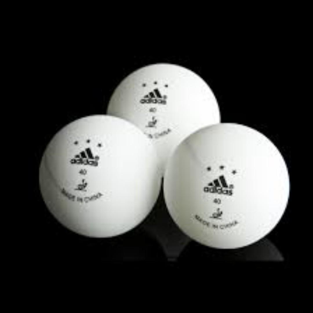 Cartas credenciales anchura carbohidrato  BNIB Adidas Table Tennis Balls, Sports, Sports & Games Equipment on  Carousell