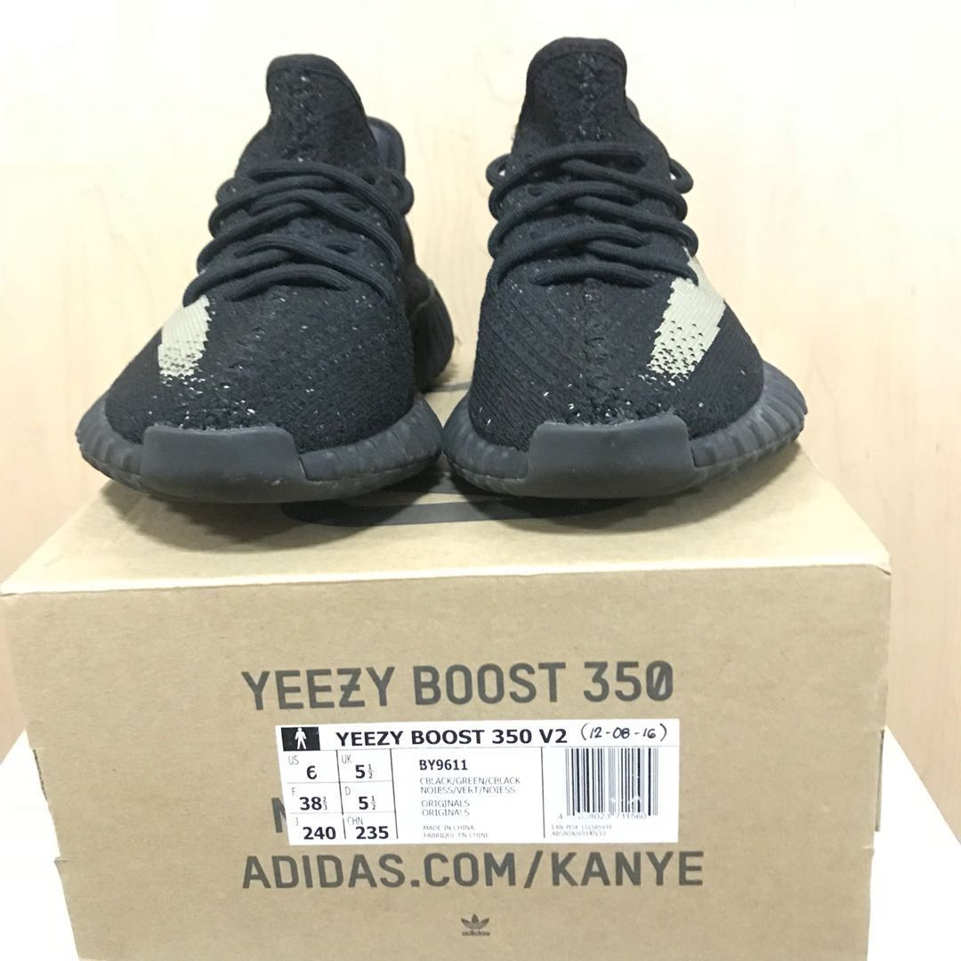 Adidas Yeezy V2 Core Black Green US 6 fdeccc380
