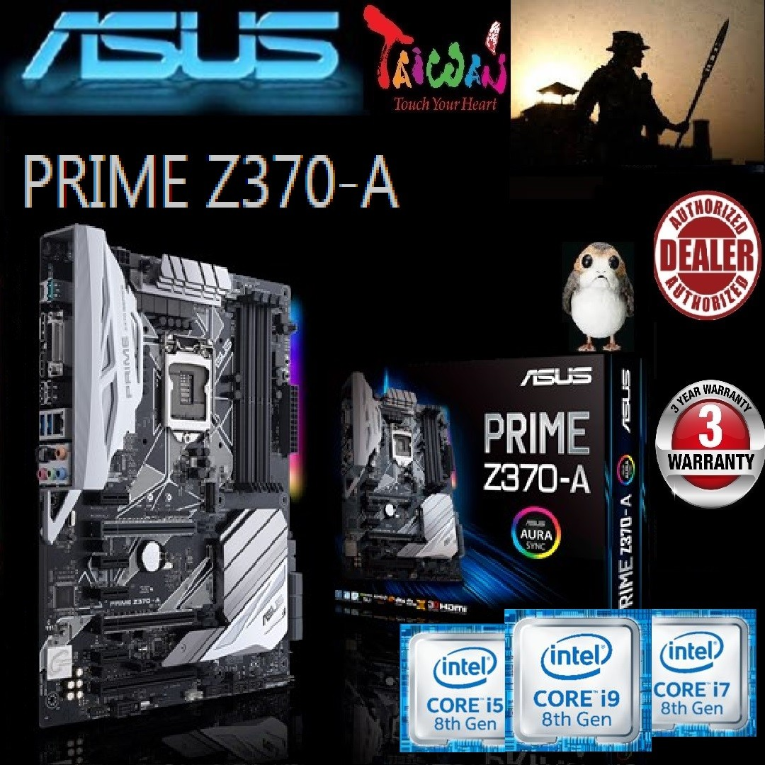 ASUS PRIME Z370-A  , GAMING MOTHERBOARD (3 Years Warranty),+