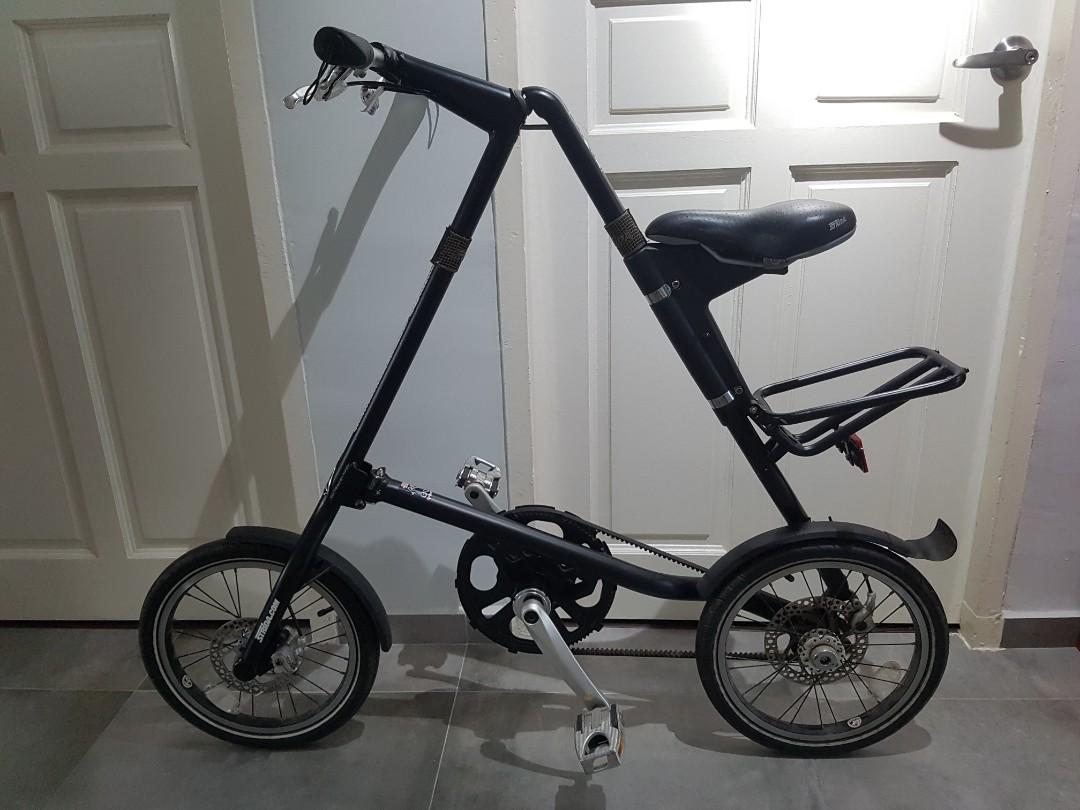 3ac2e53466a Authentic STRIDA 5.0 Black Foldable Bicycle e.g. Foldies Bike ...