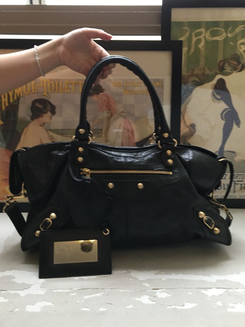 d6b9bded8573 Balenciaga part-time city giant gold hardware