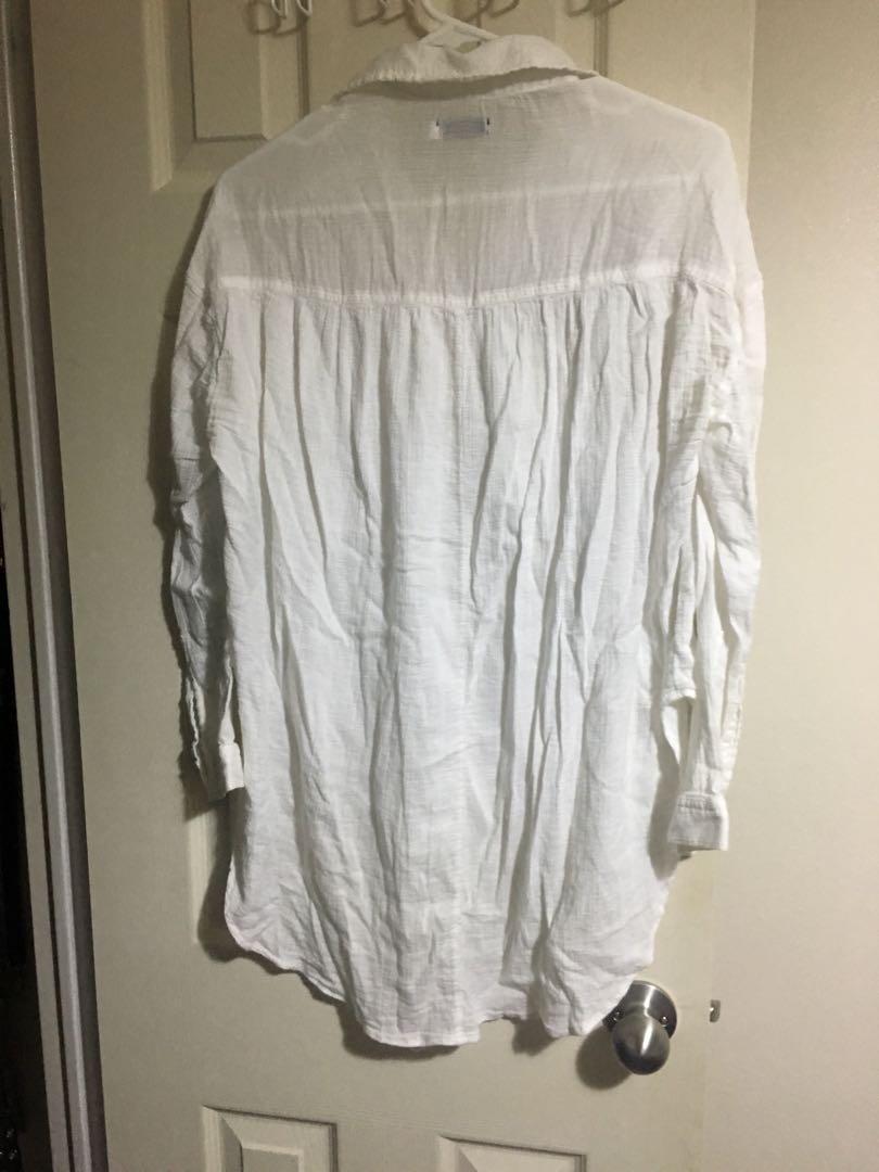 BDG off-white oversized linen shirt Size S