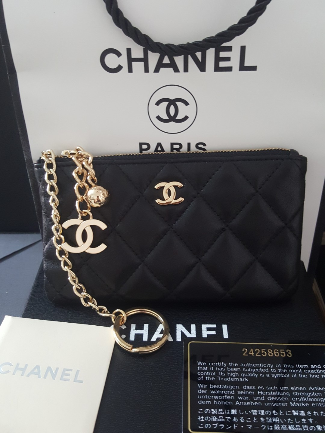 575c4ca29149 Carousell의 BN Chanel Mini Zip Wallet Name Card Holder Mini Wallet Coin Pouch
