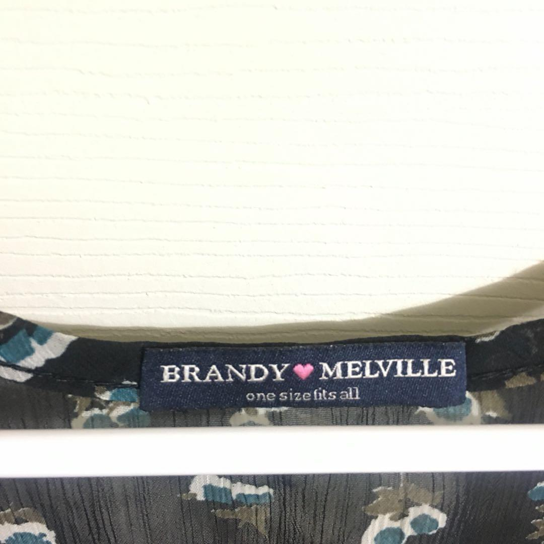 Brandy Melville light, floral sleeveless crop top - One Size