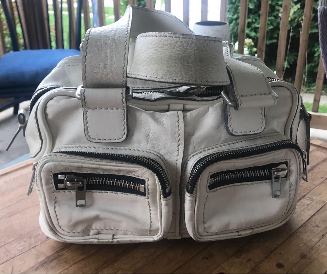 Chloe Handbag White Leather Authentic