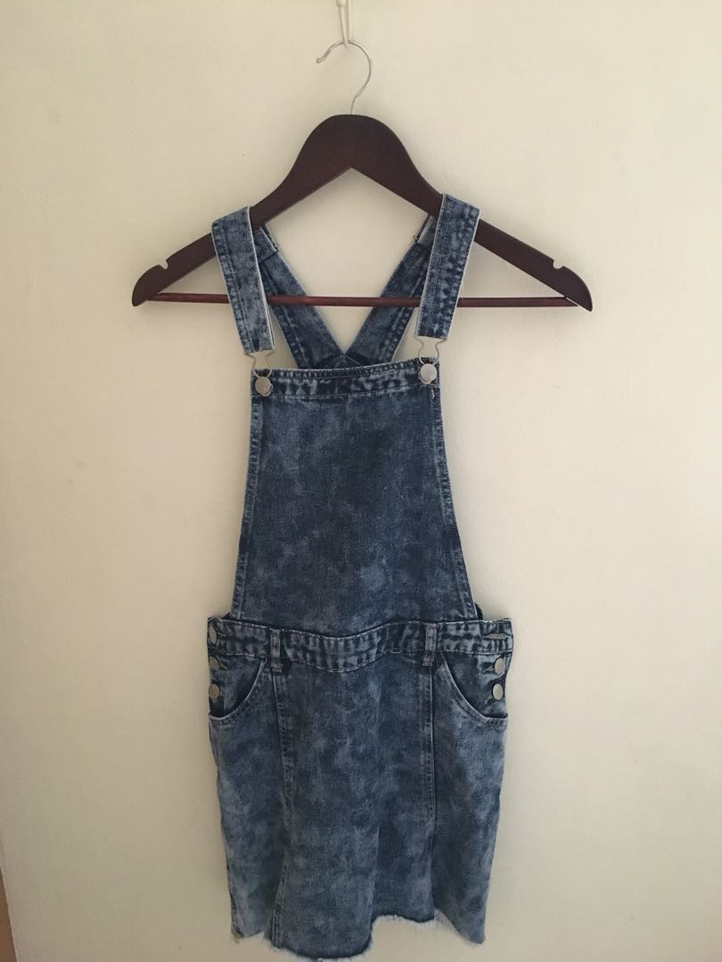 7f388f09f914 Denim Overall Dress, Women's Fashion, Clothes, Outerwear on Carousell