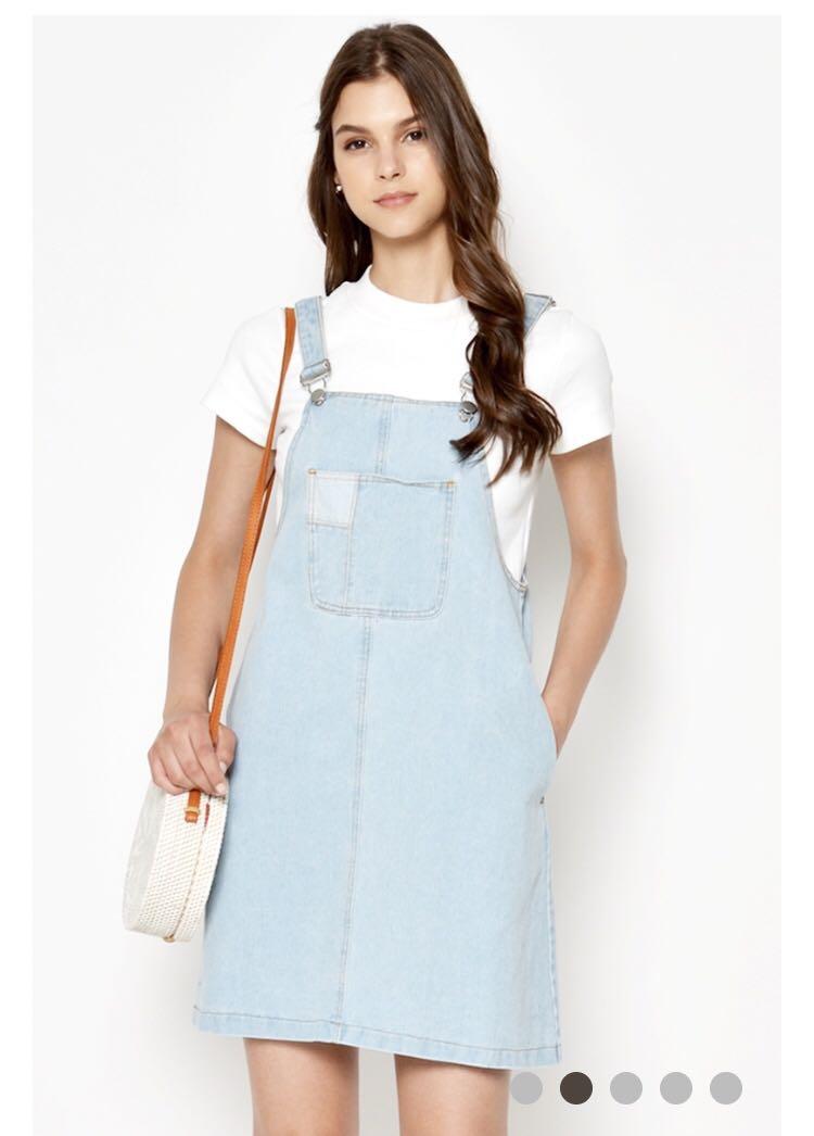 29c74e13388 Denim overall dress