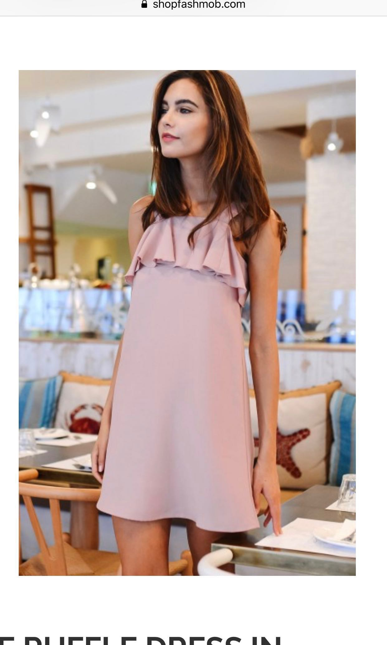 a80d2dc18fe Fashmob Blush Pink Dress