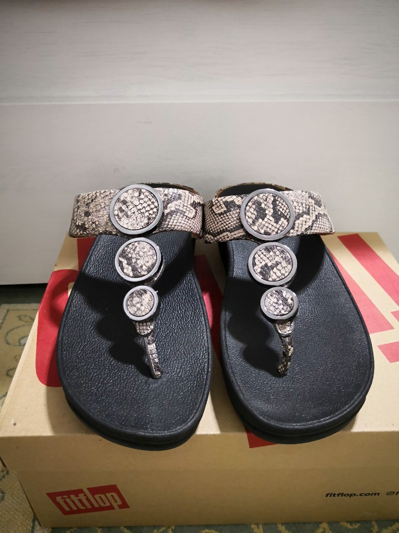 c8588cbb6de6 Fitflop Snake Print Leather Toe-Thong
