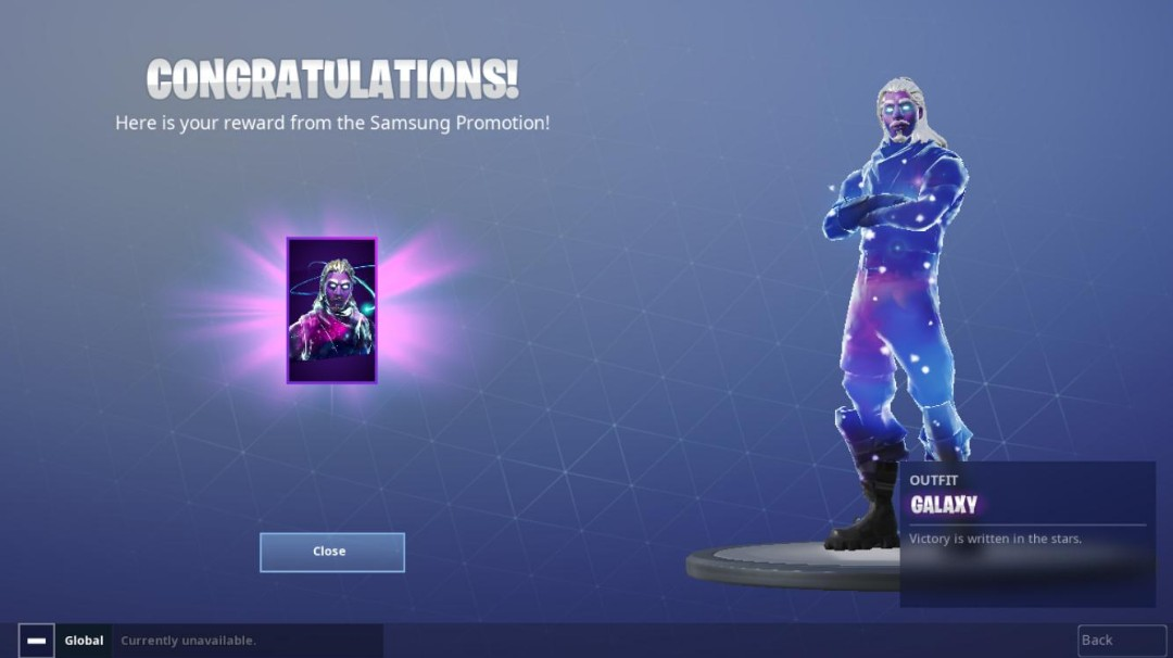 share this listing - space skin fortnite