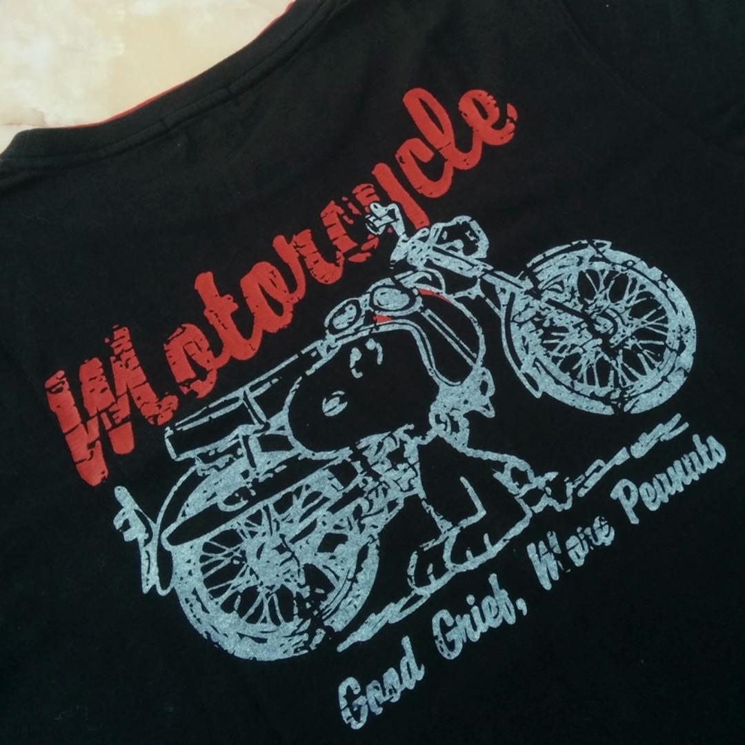 "GOOD OL Snoopy ""Peanuts Motorcycle"" Tees/T-Shirt"