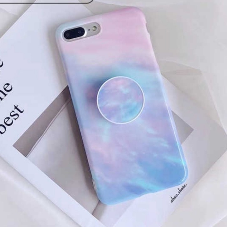 best service b6a8f 4df48 Gradient pop socket phone case