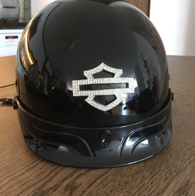 134399972 Harley Davidson Lady Half-Cap Helmet (Bling MoCo Logo), Motorbikes ...