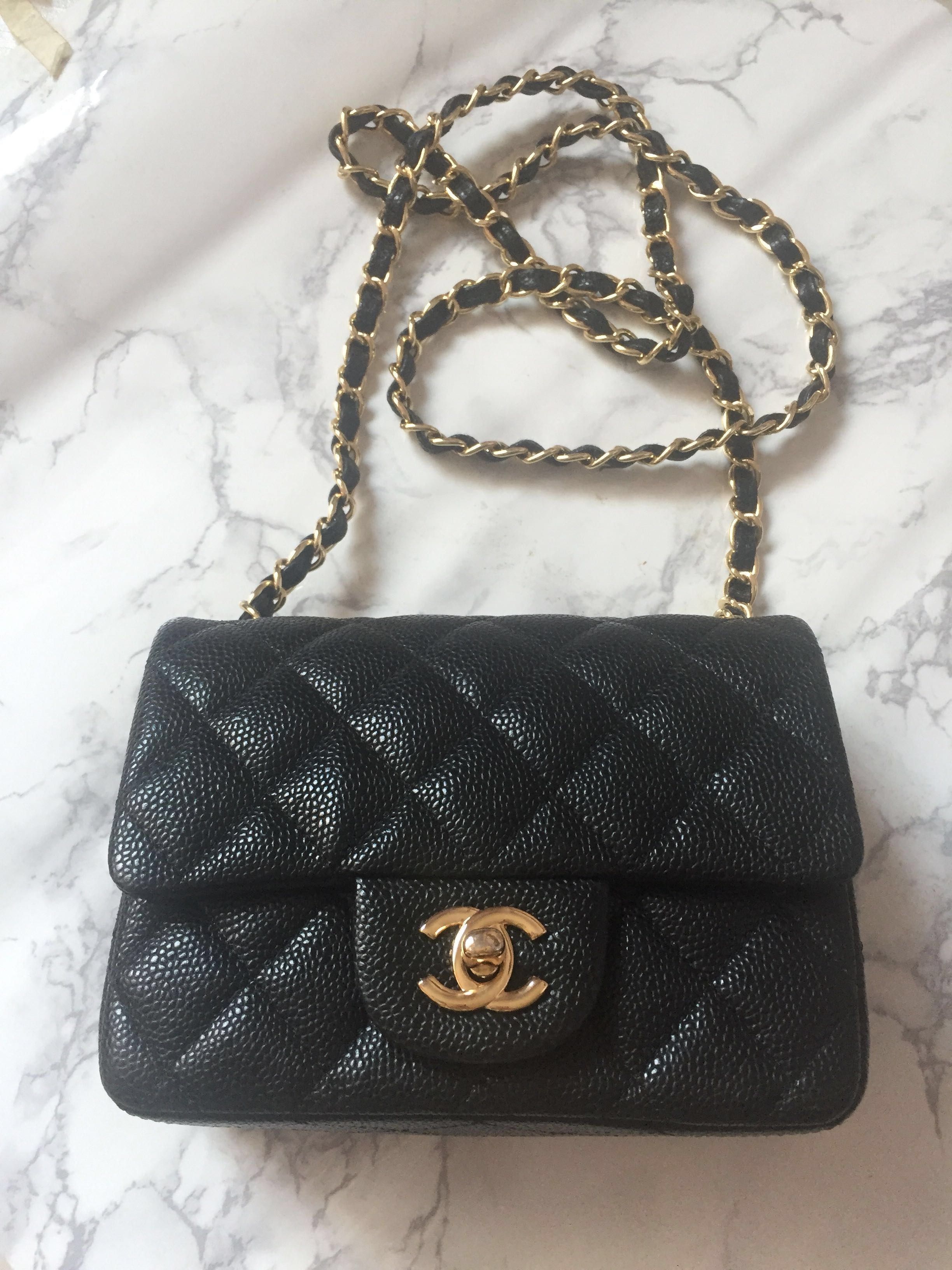 15c5b5570649 (Item not available) Chanel Mini Square Classic Flap Bag, Luxury, Bags &  Wallets, Sling Bags on Carousell
