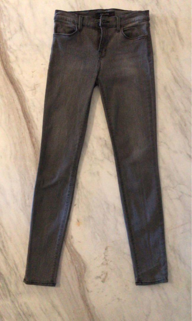 Jbrand grey wash jeans skinny size 28, fits 26-27