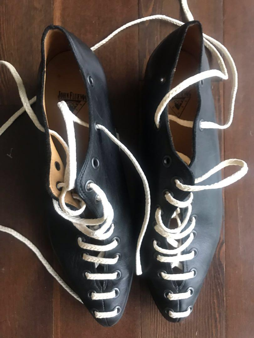 Johnny fluevog power up engaging braided lace up shoe