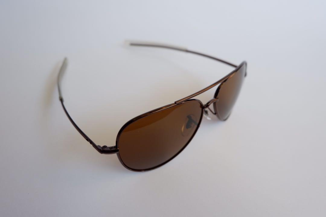 kacamata aviator black/brown