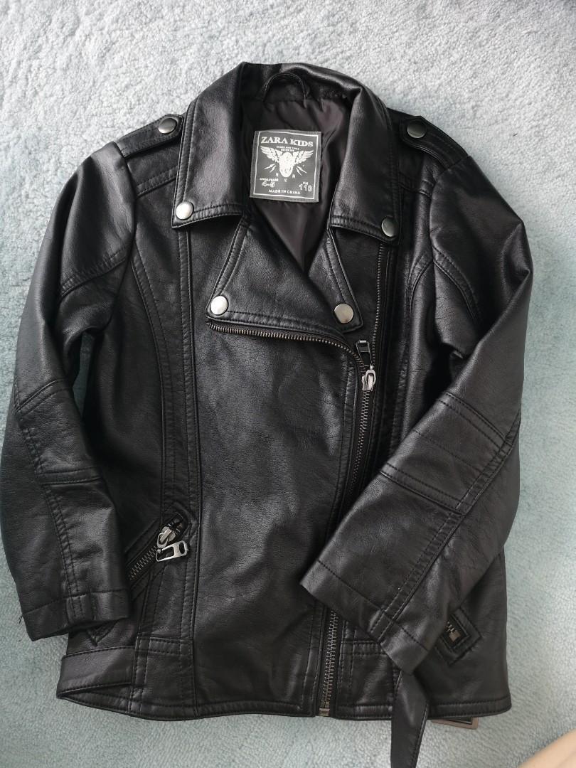 1381835b Leather jacket for children boys and girls autumn winter zara jacket ...