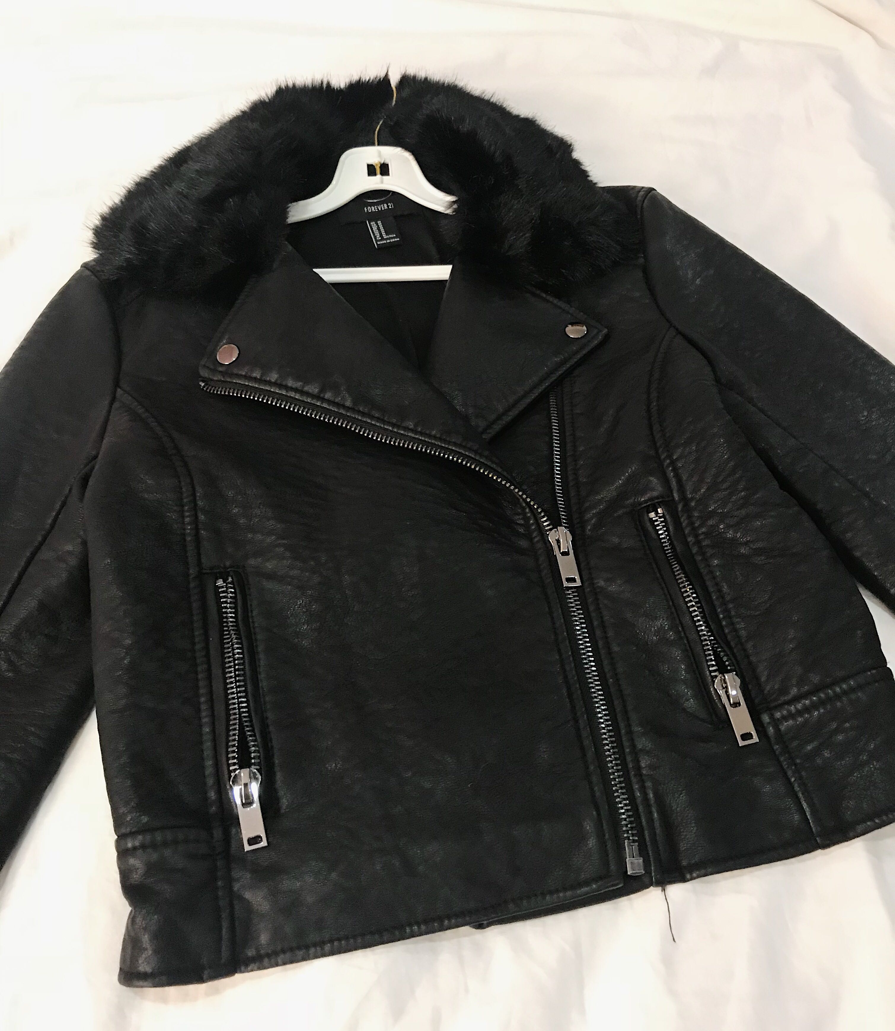 5ad5ff1f7 Leather Jacket (from Forever 21)