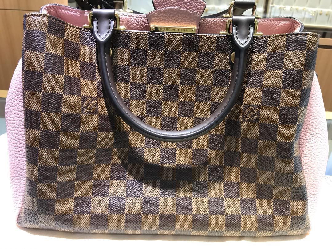 Louis Vuitton Brittany (Damier Canvas with Cuir Taurillon Leather ... f051ff82cb285