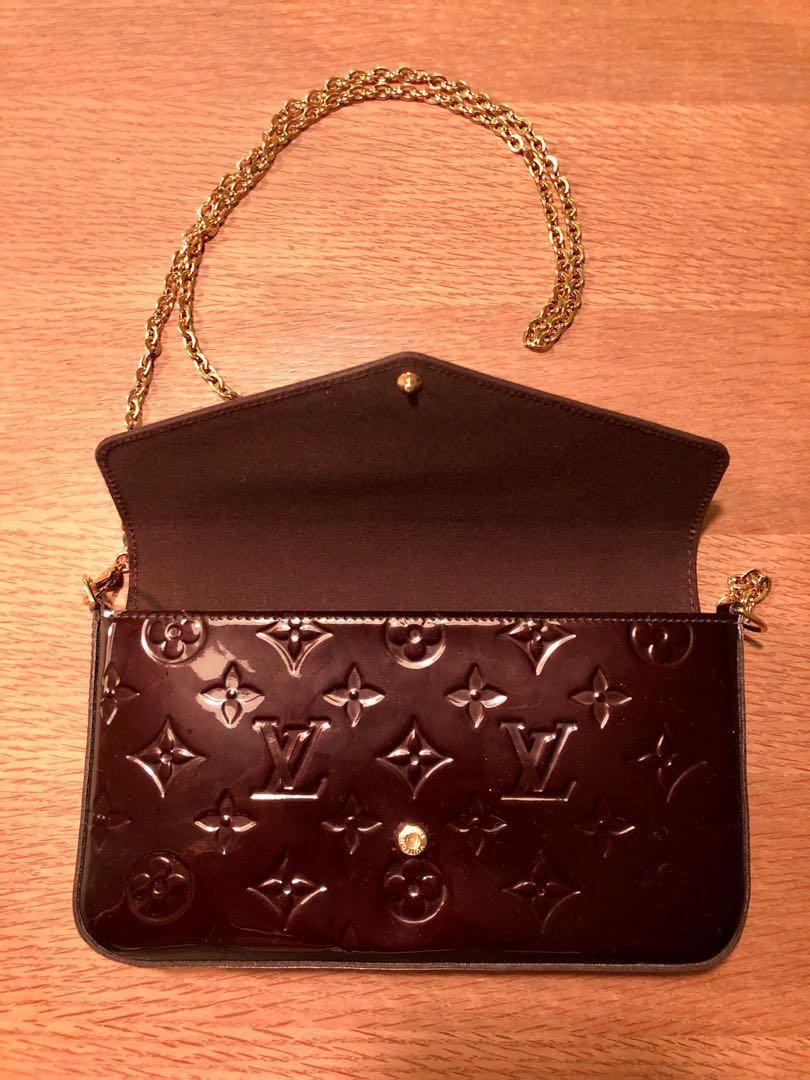 e7ad2c41e35b Louis Vuitton Pochette Félicie in glossy Monogram Vernis leather ...