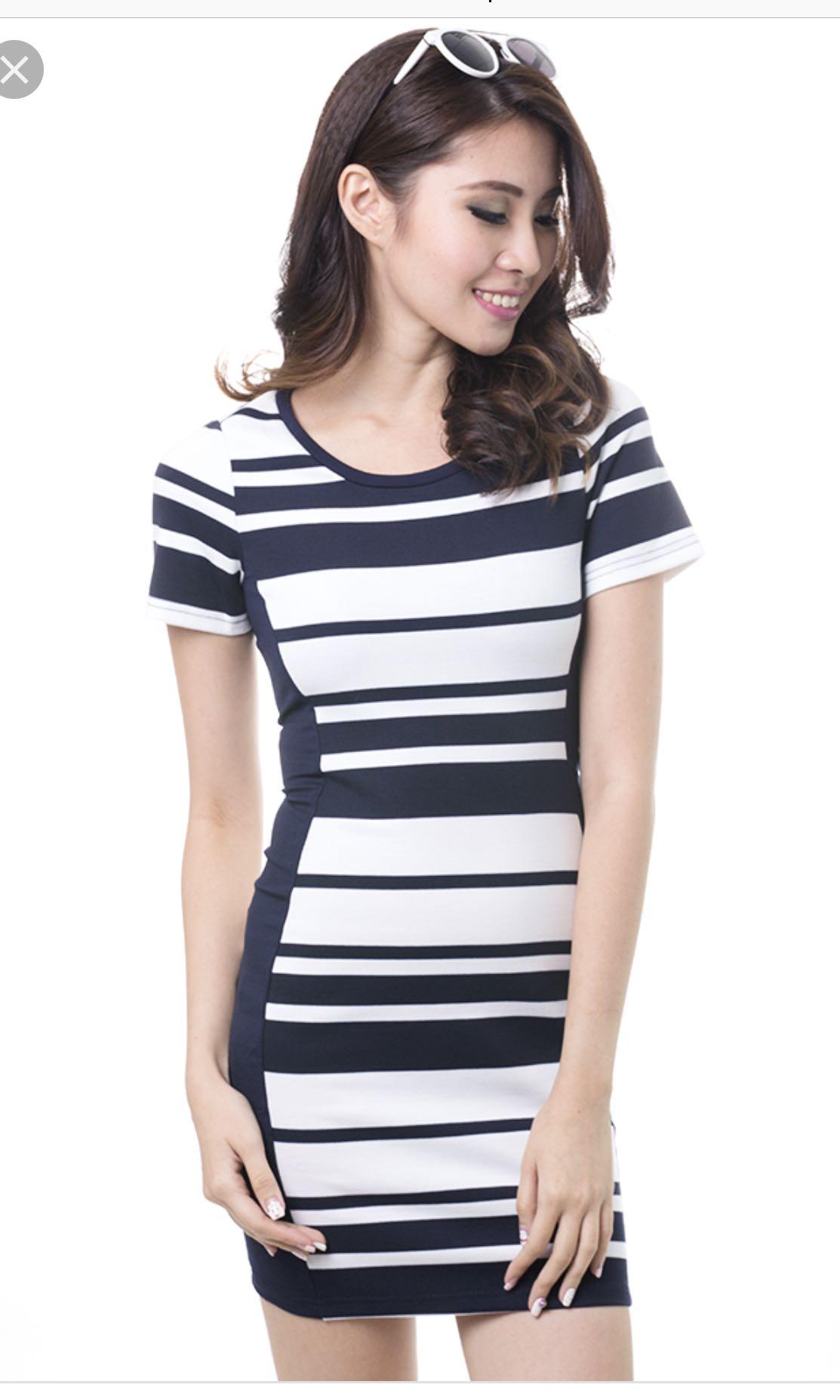 53ae601cc MDS stripes bodicon dress, Women's Fashion, Clothes, Dresses ...