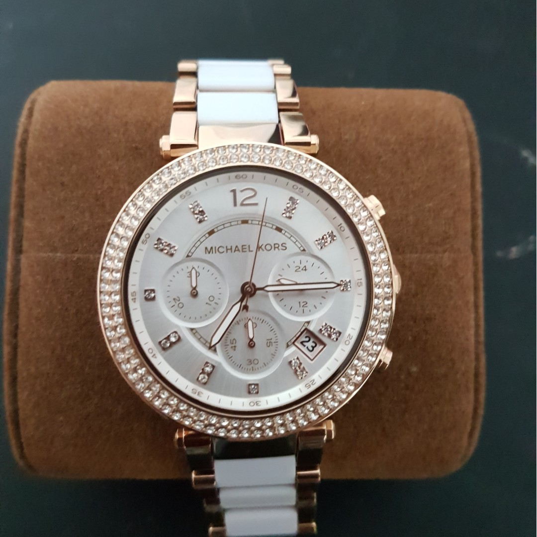 7065dbe290c Michael Kors White Rose Gold Stainless Steel Watch MK5774