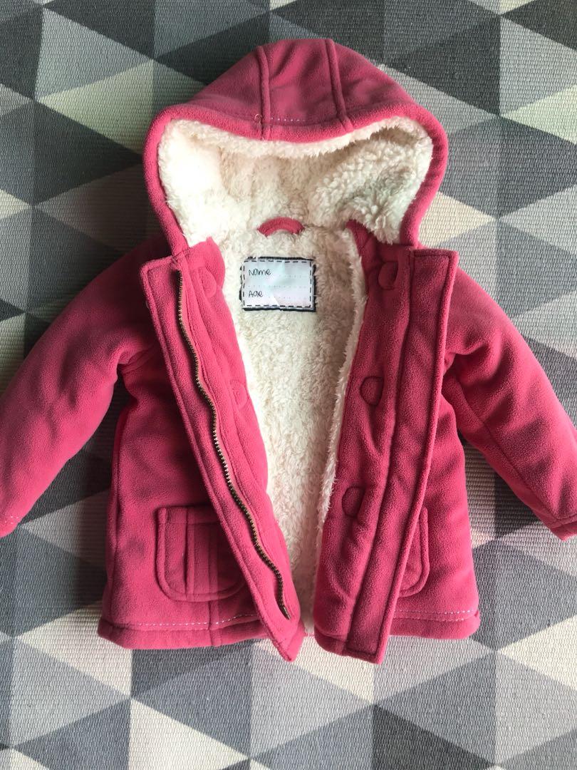 dda004408 Mothercare Girls winter Jacket 9-12 months