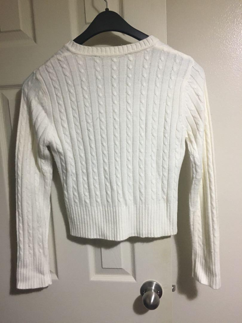 Off-white knitted sweater