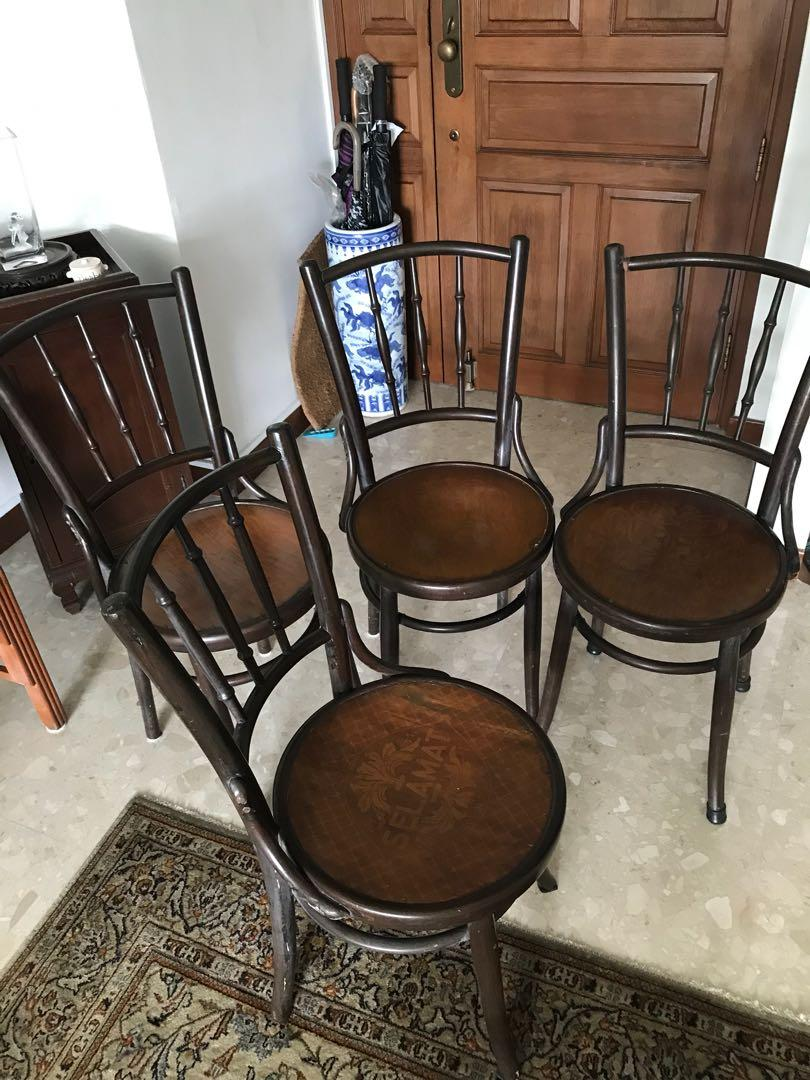 Old Coffee Shop Chairs Furniture Tables Chairs On Carousell