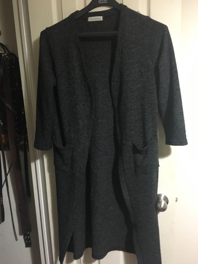 Oversized dark grey cardigan