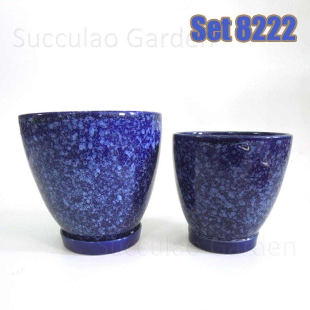 Peacock Blue 2 Sets Of Pots