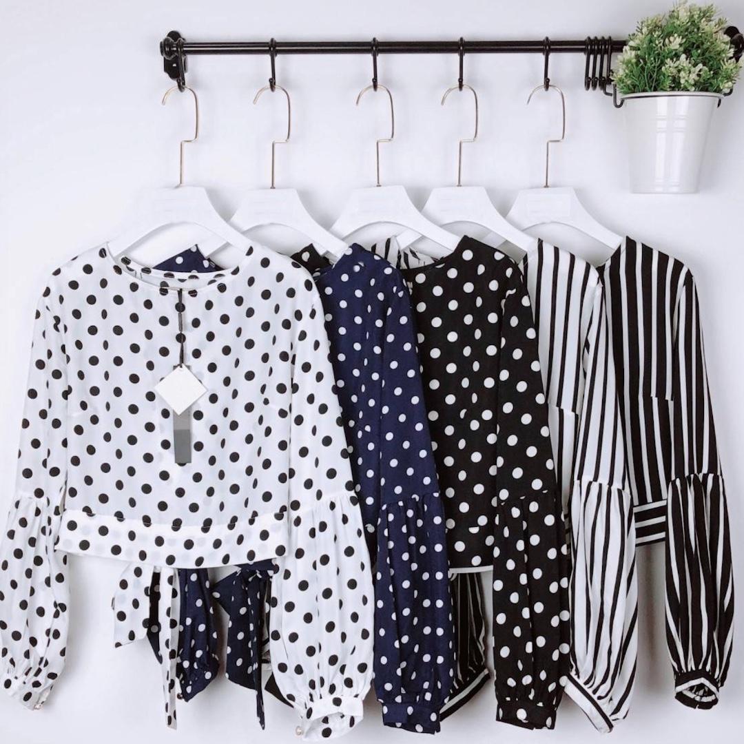 ac056fb9361df2 PO* Hangkrarok Silk Blouse, Women's Fashion, Clothes, Tops on Carousell