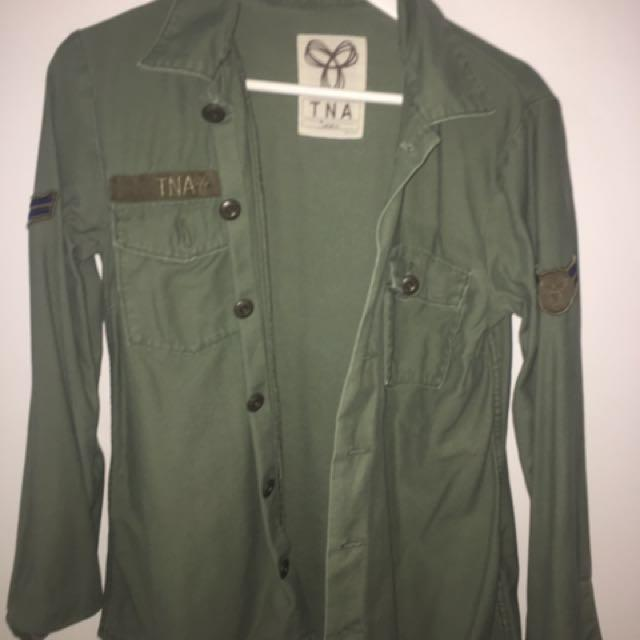 ✨REDUCED army green TNA jacket