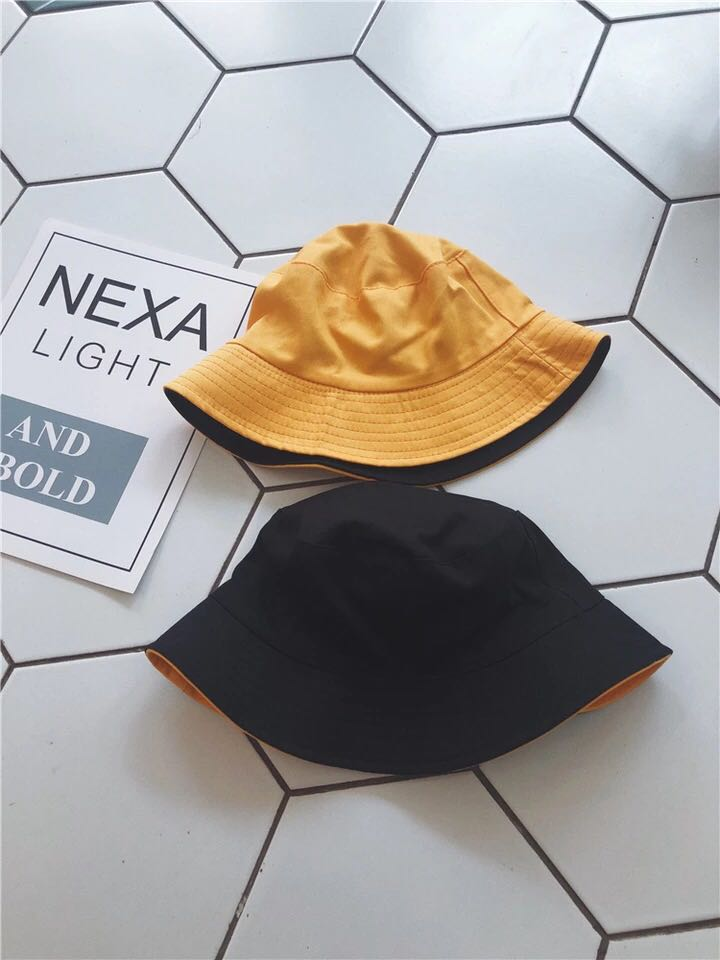 7bb421a718b Reversible Yellow Black Bucket Hat