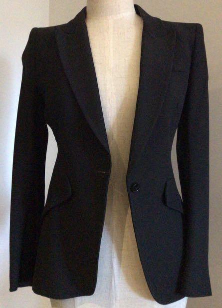 Size 8 Alexander McQueen black blazer