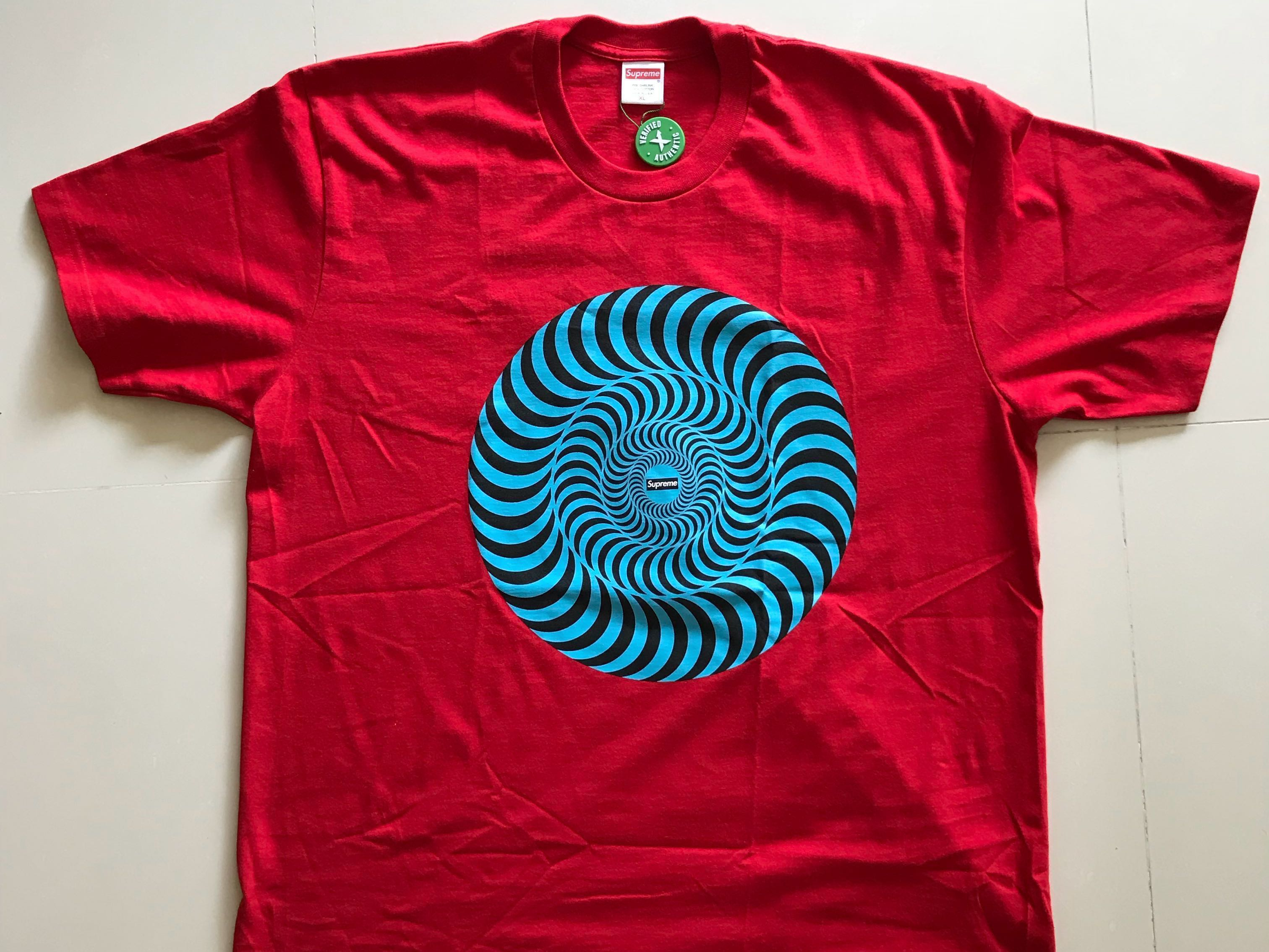 a4aa45e3 Supreme Classic Swirl Red Tee XL, Men's Fashion, Clothes, Tops on ...